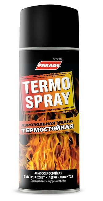 Эмаль аэрозольная PARADE TERMO SPRAY Серебристый